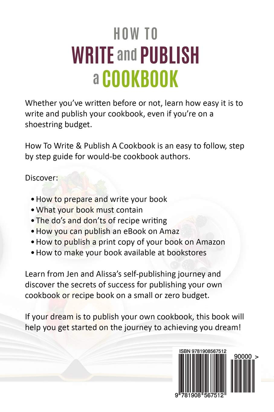 how to write a cookbook 2018