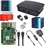 V-Kits Raspberry Pi 3 Model B+ (Plus) Complete Starter Kit with Official Black Case [LATEST MODEL 2018]