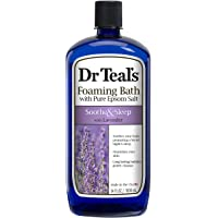 Dr Teal's Foaming Bath with Pure Epsom Salt, Soothe & Sleep with Lavender, 34 Ounces, purple, 3030009