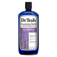 Dr Teal's Foaming Bath with Pure Epsom Salt, Soothe & Sleep with Lavender, 34 Ounces, purple, 3030009
