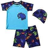 Baby Boys Two Pieces Swimsuit Toddler Bathing Suit Beach Swimwear Set UPF 50+ Rash Guard Sunsuit