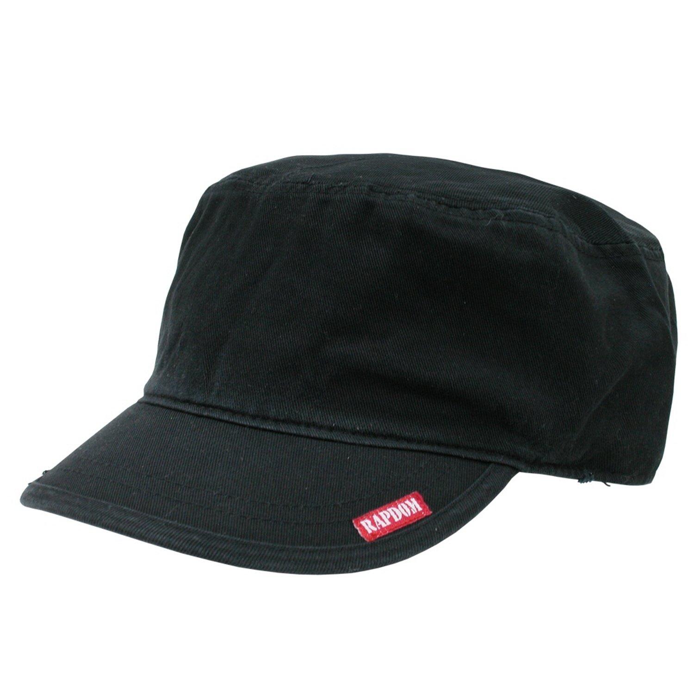 Adjustable , BLACK RAPID DOMINANCE Flat Top Military Inspired Adjustable Patrol Cap Baseball Hat