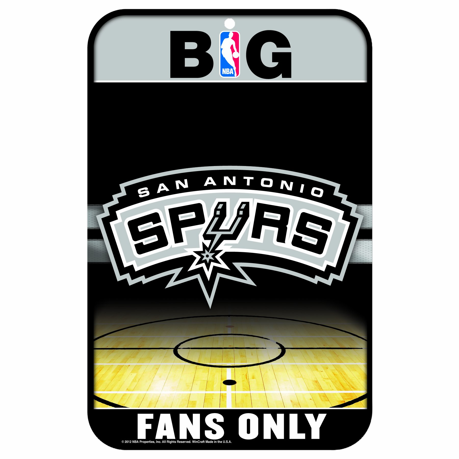 WinCraft NBA San Antonio Spurs 11x17-Inch Sign
