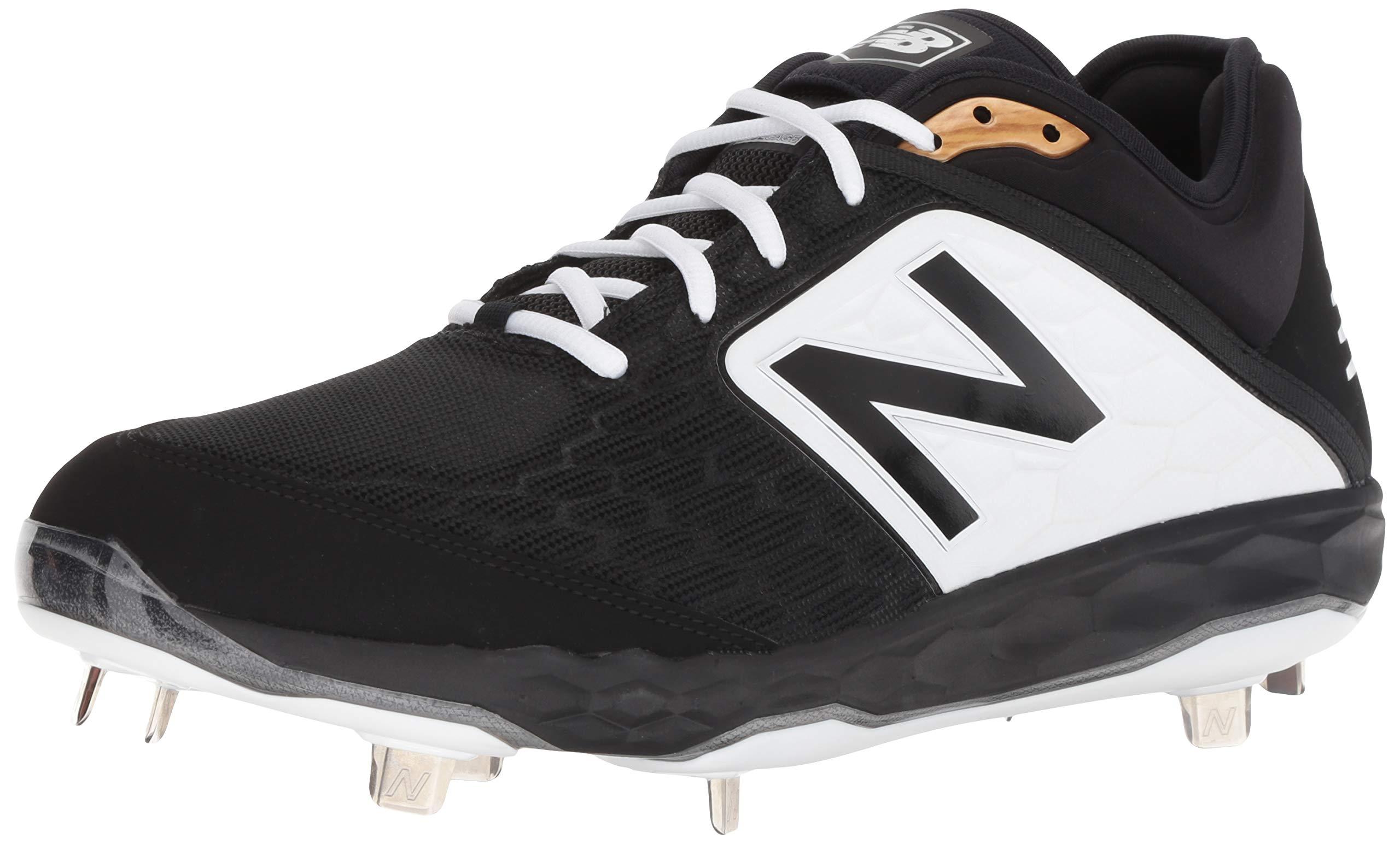 New Balance Men's 3000v4 Baseball Shoe, Black/White, 5 D US