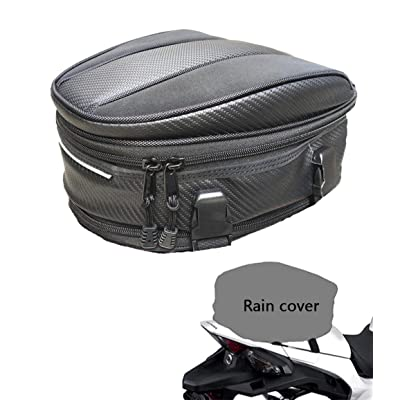 Motorcycle Tail Bag, Meago Multifunctional Sport Seat Bag Nylon Luggage Bag Motorbike Back Seat Bag Tear-Resistant Motorbike Accessories Bag for Universal Fit,15 Liters (Upgraded Tail Bag): Automotive