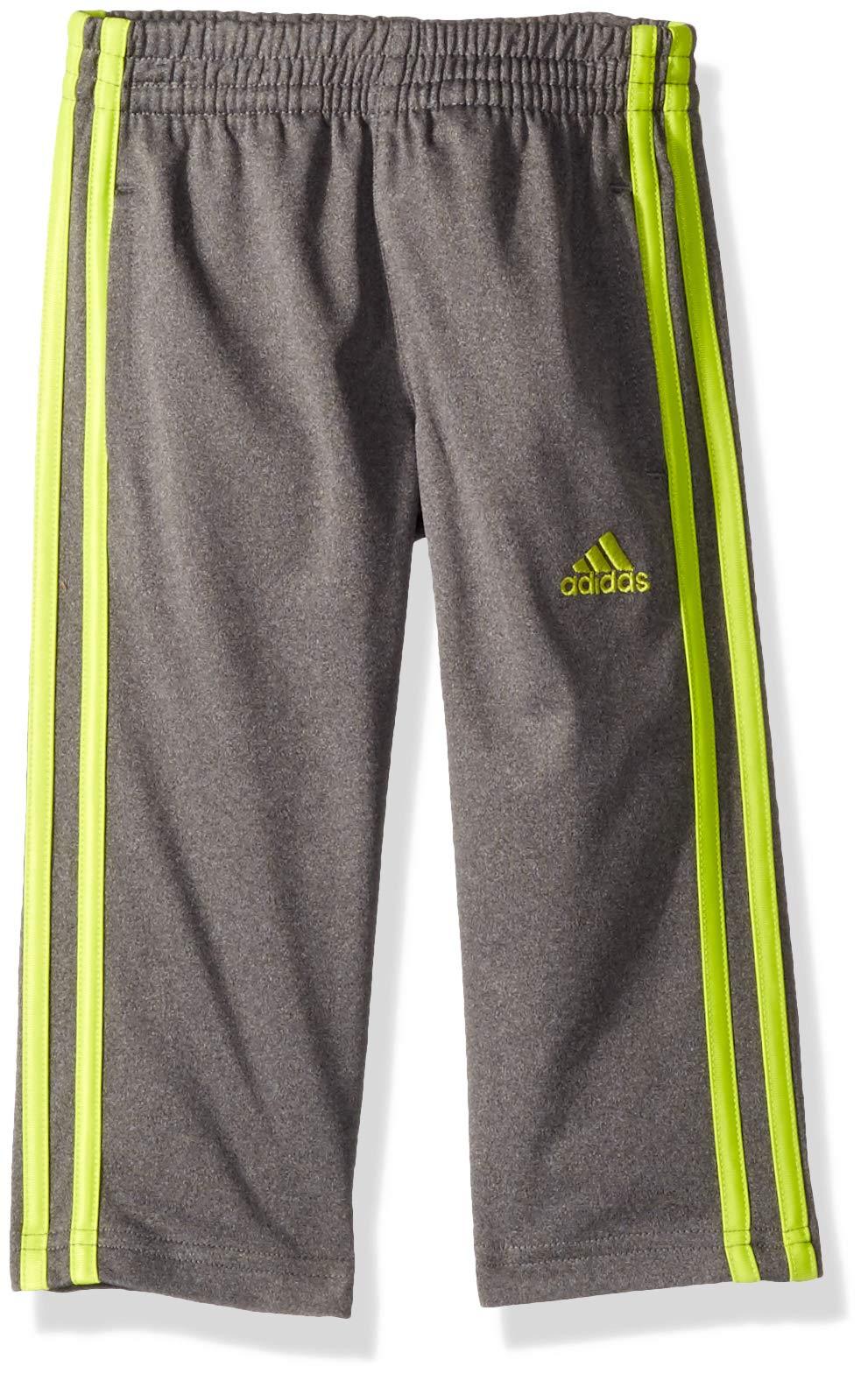 adidas Boys' Little Tricot Pant, Dk Grey, 2T