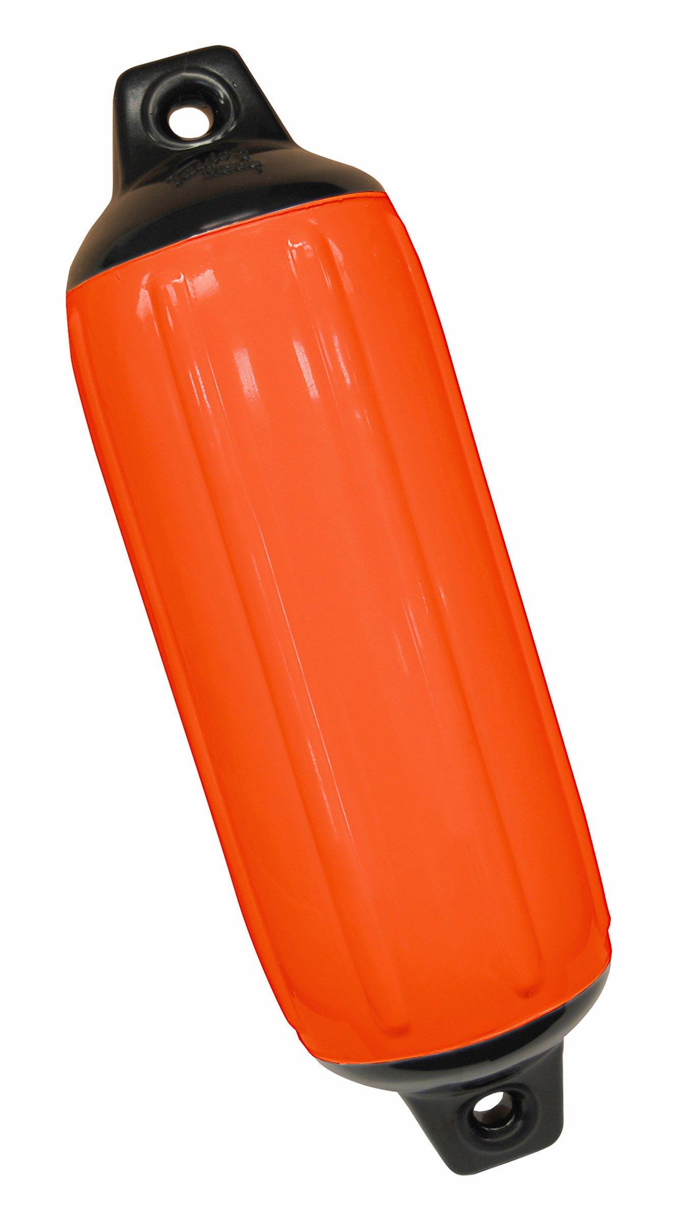 Taylor Made Products 730824 Super Gard Inflatable Vinyl Boat Fender, 8.5 x 26, Blaze Orange