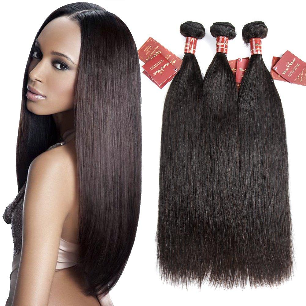 Amazon Moda Mode Hair Virgin Human Hair Extensions Brazilian