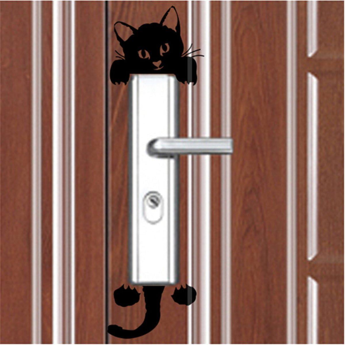 Cute Set of 12 Pet Dog Cat Black Wall Plug Decal Sticker Art D/écor Light Switch DIY Vivid Removable Mural Decoration for Kid Women Girl Nursery Living Room Bedroom