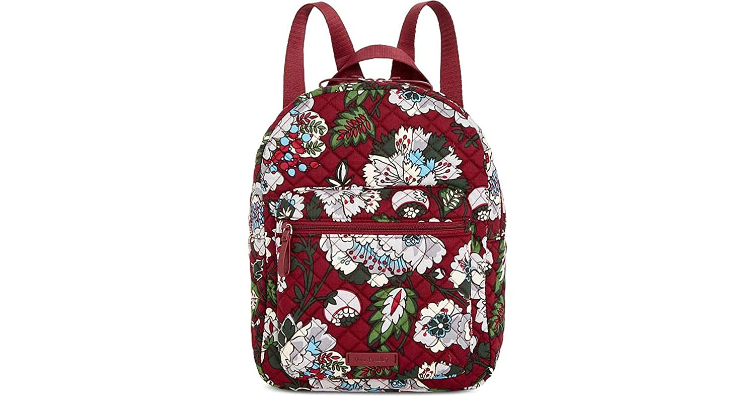 f13318b7b Amazon.com | Iconic Leighton Backpack, Signature Cotton (Bordeaux Blooms) |  Casual Daypacks