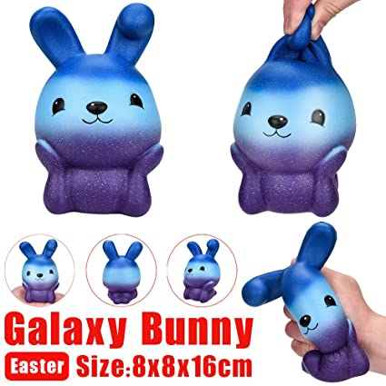 16cm Squishy Easter Galaxy Bunny Scented Slow Rising Squeeze Collect Easter Gift Doll Slow Rising Stress Relief Squeeze Toys Kid Stress Relief Toy