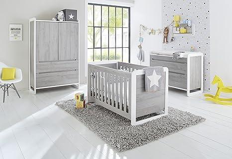Pinolino 103440b 3 pièces Largeur, lit bébé, commode avec ...