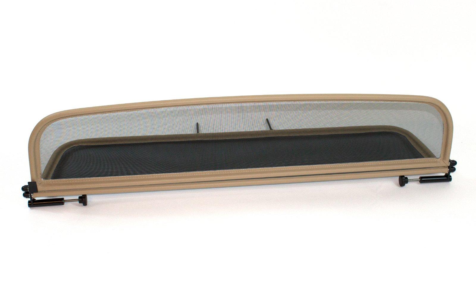 Wind Deflector for Jaguar XK (2006-2014) - Foldable - with Quick Release Fastener - Beige | Windstop | Wind Blocker