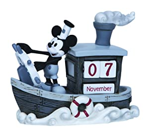 "Precious Moments, Disney Showcase Collection, ""Mickey Mouse Perpetual Calendar"", Resin Figurine, #144707"