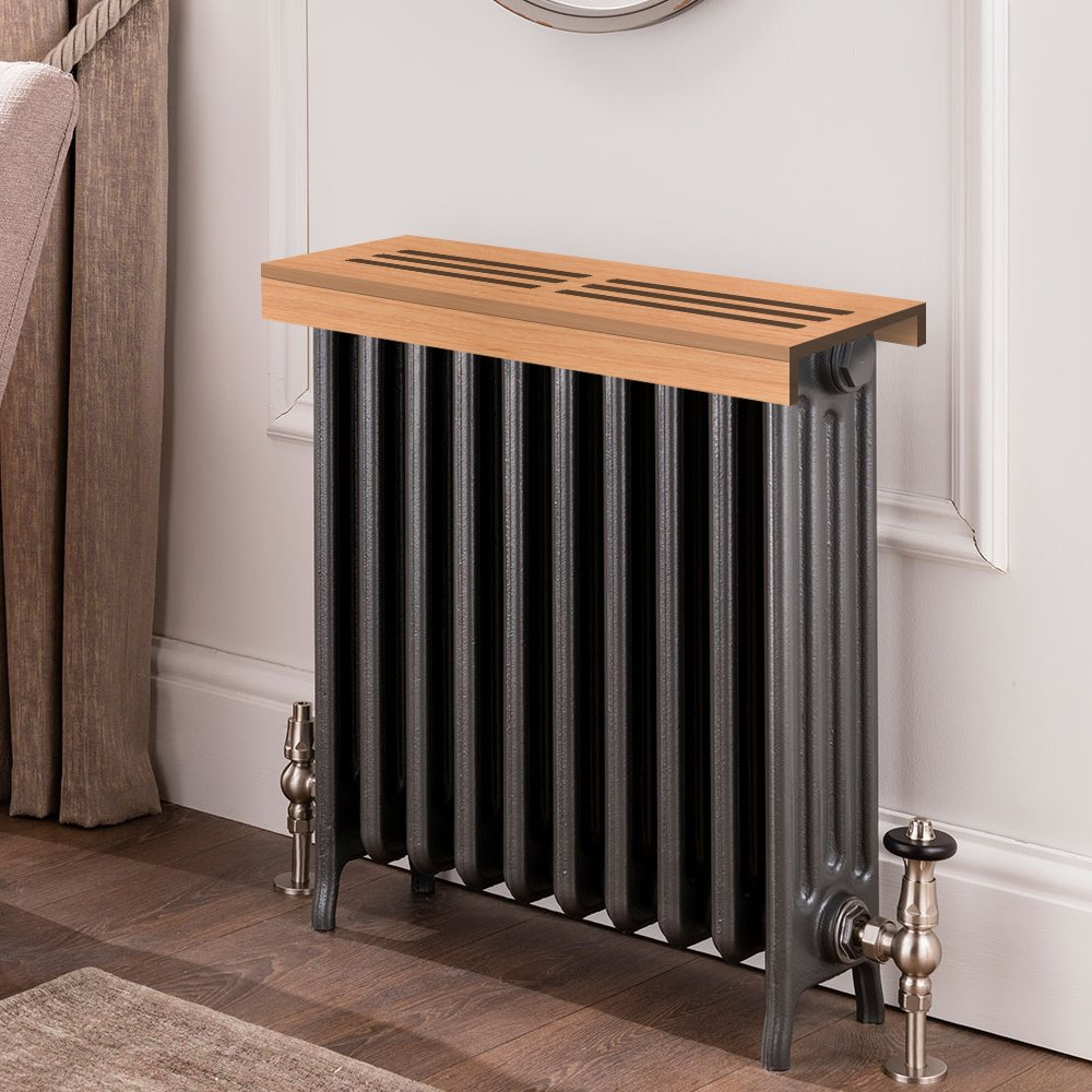 Unfinished cherry Wooden Radiator Cover Shelf, 36'' Width x 11'' Length x 3'' Height