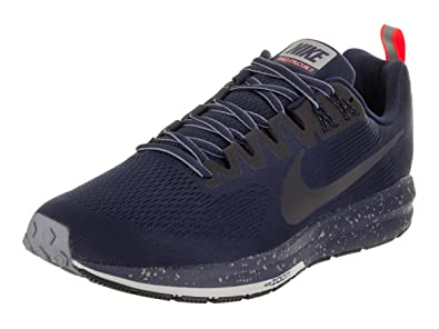 NIKE Men's Air Zoom Structure 21 Shield Binary Blue/Obsidian Running Shoe 8  Men US