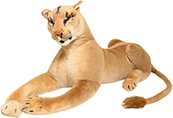BRUBAKER peluche leona de color marrón de 110 cm: Amazon.es ...