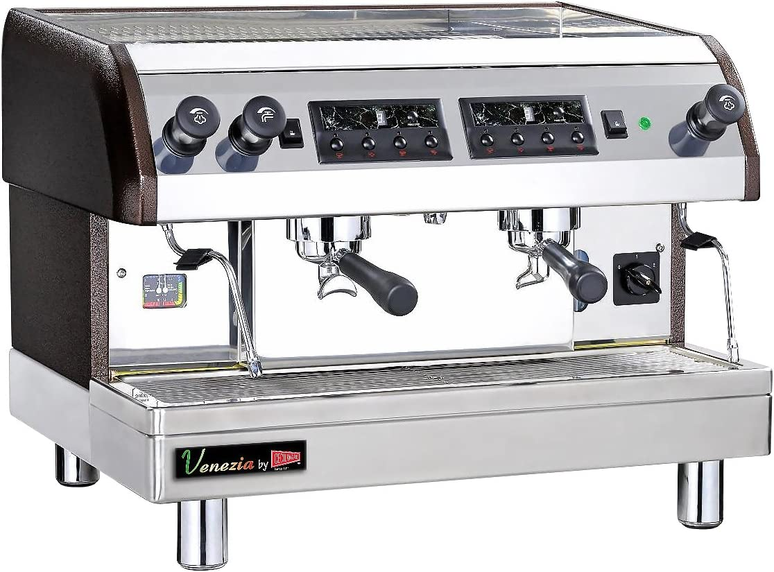Grindmaster-Cecilware ESP2-220V Venezia II Single or Double Espresso Machine