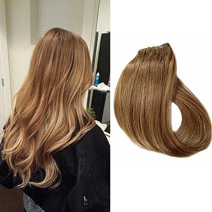 Clip en extensiones de cabello Extensiones verdaderas del pelo humano del 100% Pelo remy para