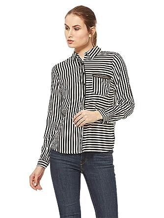 9e4c983415071 Koton Striped Shirt for Women - Black & White: Amazon.ae: Waseelah_uae