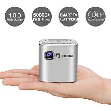 Aodin Fusion - Proyector DLP LED portátil (2500 lúmenes, tamaño de ...
