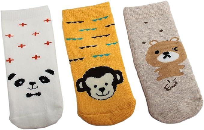 Pack de 3 calcetines de algodón grueso para bebé y niña, diseño de oso panda Multicolor multicolor Medium: Amazon.es: Ropa y accesorios