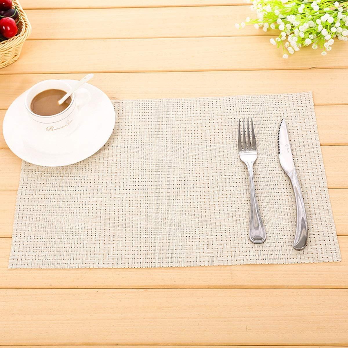 Compra Chennie Mesa de Comedor Esteras aislantes Manteles de Secado rápido Posavasos Antideslizantes Mesa de Cocina 12 * 16 Pulgadas (Color : White) en Amazon.es