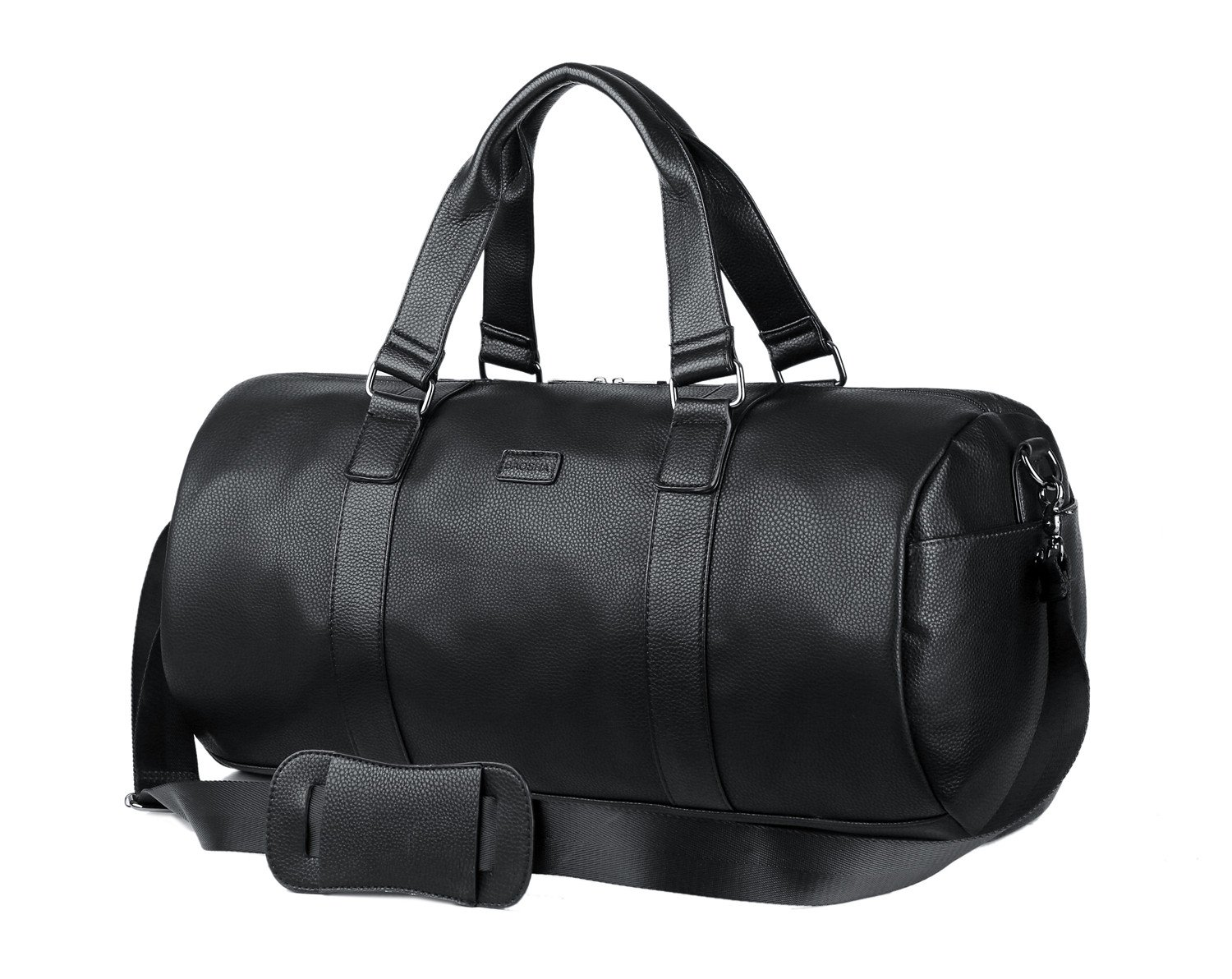 BAOSHA HB-02 Men PU Leather Handbag Totes Travel Weekender Duffel Bag Black   Amazon.co.uk  Luggage 97e2725dcf476