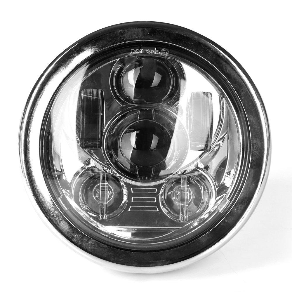 HOZAN 5.75 LED Headlight Bracket Chrome Headlight