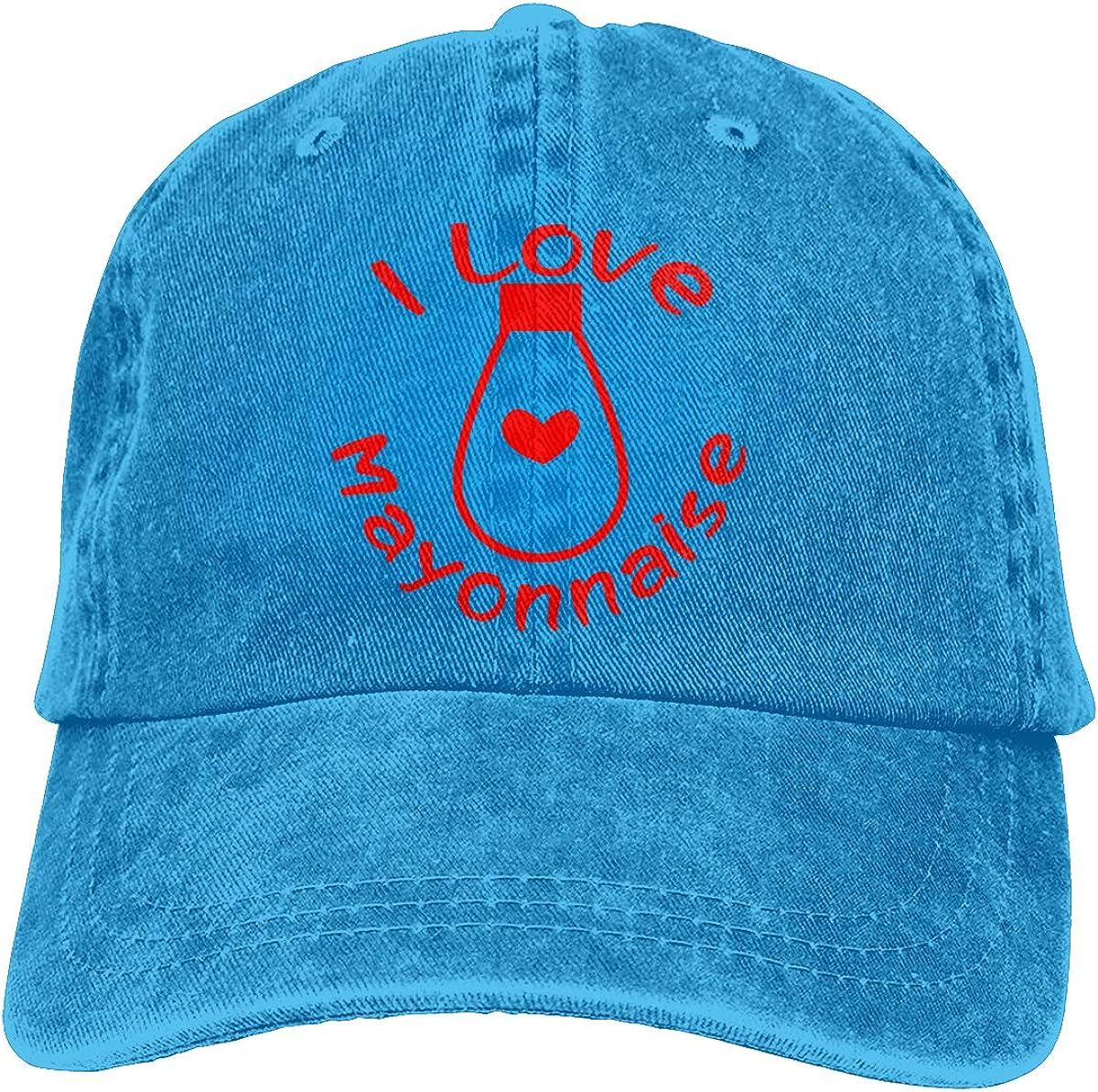 I Love Mayonnaise Unisex Trendy Denim Casquette Adjustable Baseball Cap