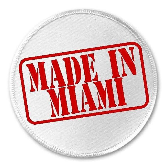 """Amazon.com: Fabricado en Miami – 3"""" Círculo Sew/Iron on ..."""