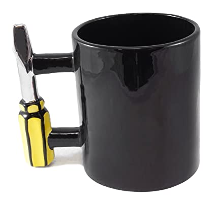 78d2789efae Image Unavailable. Image not available for. Color: Screwdriver Tool Handle  Handyman Coffee Mug