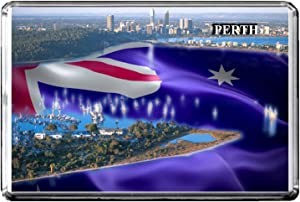 GIFTSCITY C391 PERTH FRIDGE MAGNET AUSTRALIA TRAVEL PHOTO REFRIGERATOR MAGNET
