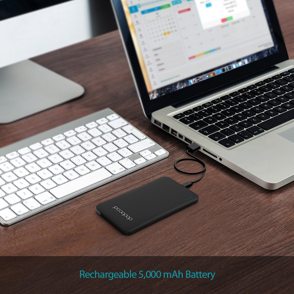 Dodocool 5000mah Portable Charger Mfi Certified 2 Port Loop September Powerbank Slim 80000mah Ultra Power Bank 40cm Detachable Micro Usb Cable And Lightning For Iphone