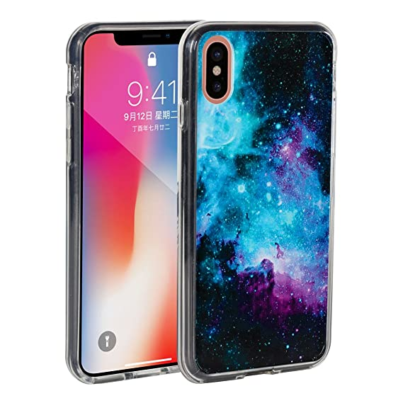 sports shoes 8b9bf f2d59 Amazon.com: iPhone X Case,iPhone 10 Case,AIRWEE Galaxy Nebula Space ...