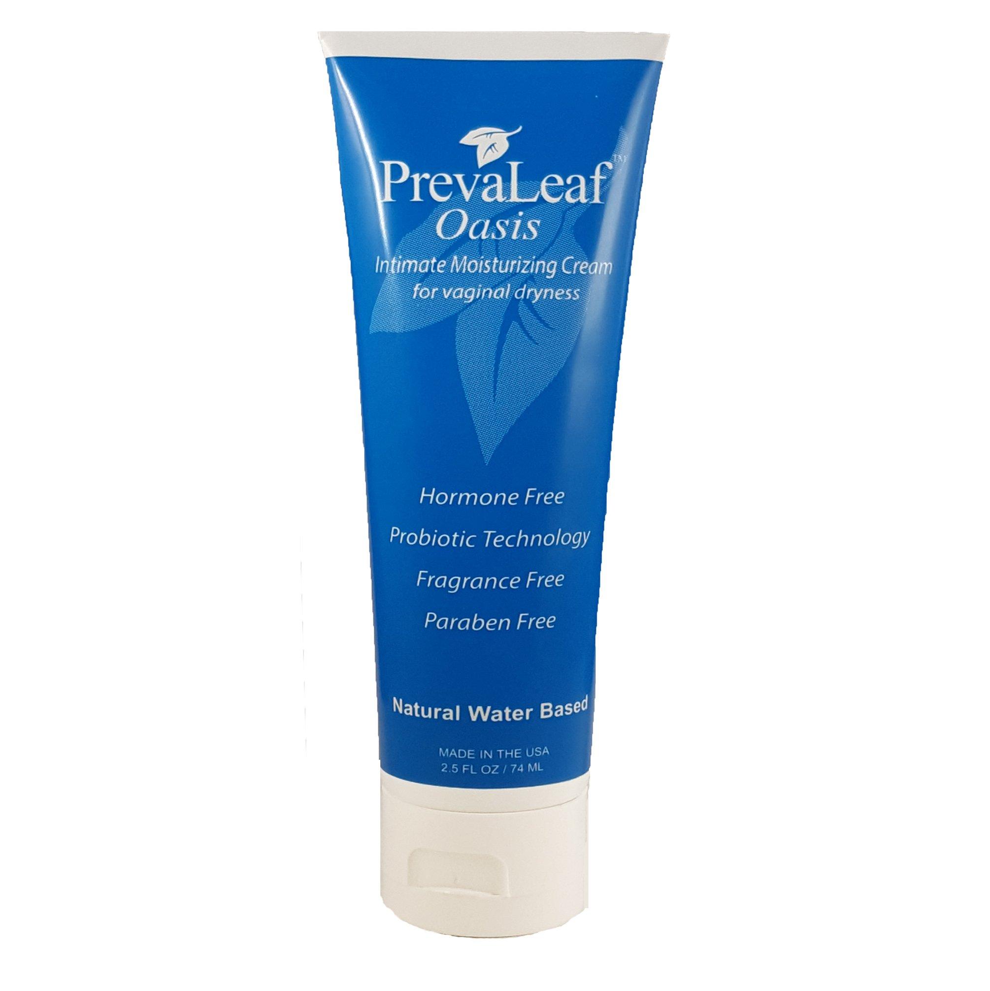 New Larger 2.5 oz Size -PrevaLeaf Oasis Natural Daily Vaginal Moisturizer with Probiotic Technology