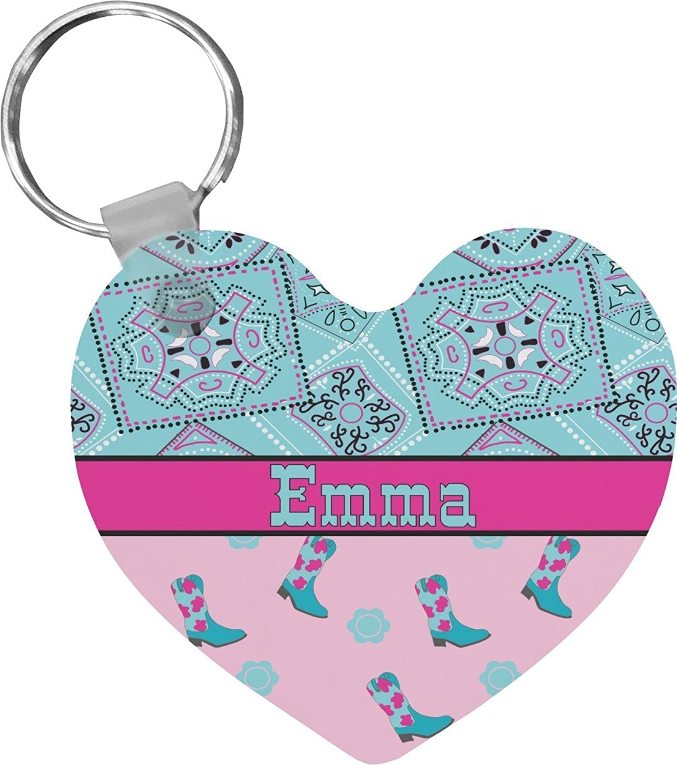 Cowgirl Heart Keychain (Personalized)