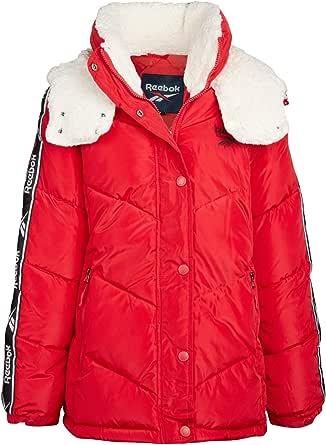 Reebok Women's Winter Jacket - Short-Length Bubble Puffer Parka Jacket with Hood