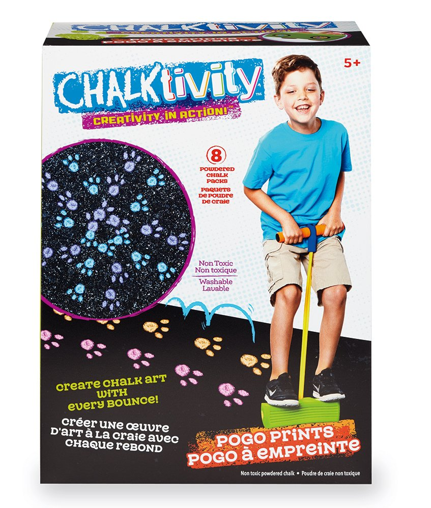 Chalktivity – Creativity in Action – Pogo Print with 8 Powdered Chalk Pack