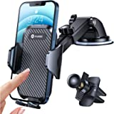 Andobil Car Phone Mount Easy Clamp, [Super Suction & Durable] Universal Dashboard Air Vent Windshield Hands-Free Phone Car Ho