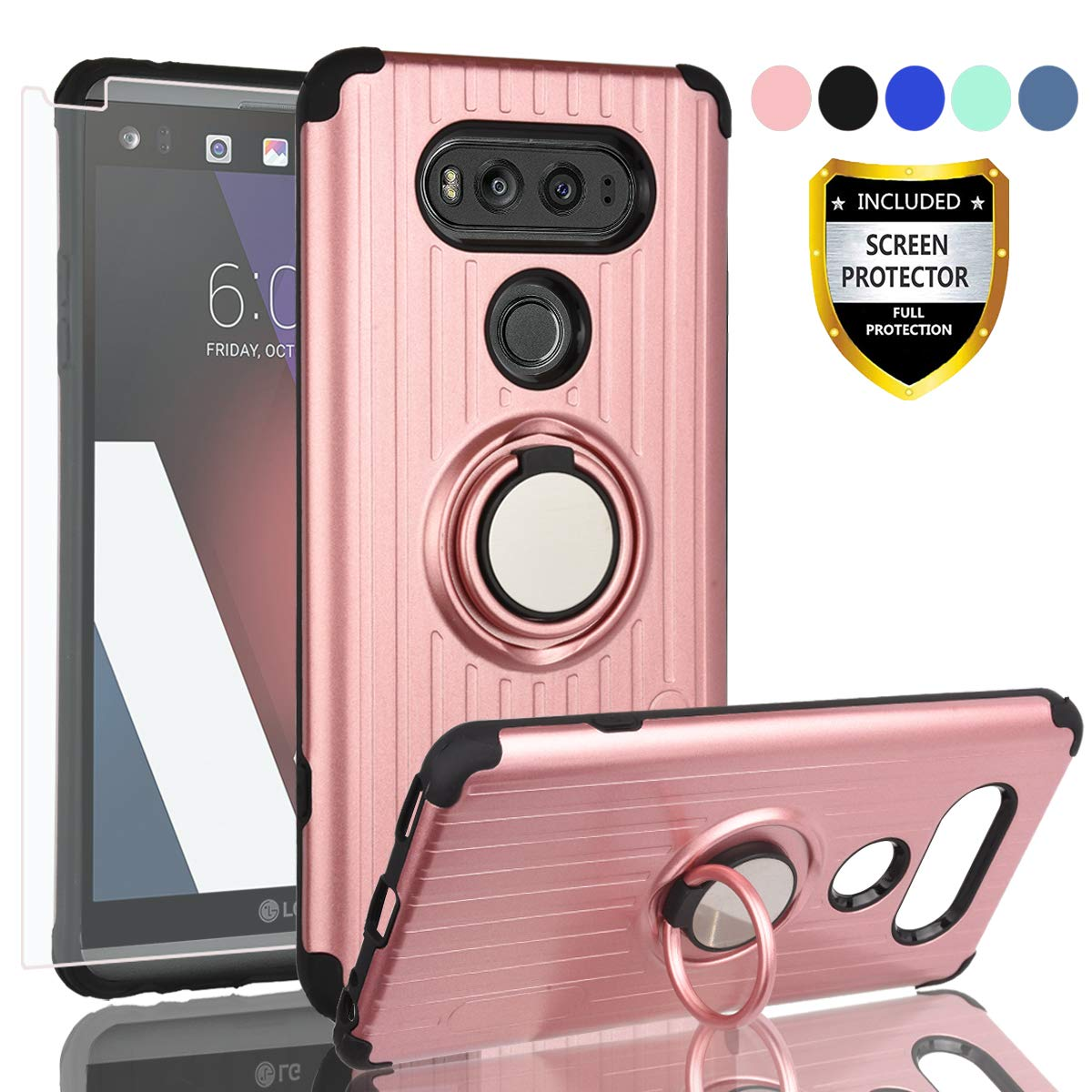 huge discount 9be46 039c5 Amazon.com: AYMECL LG V20 Phone Case,LG V20 Case with HD Screen ...