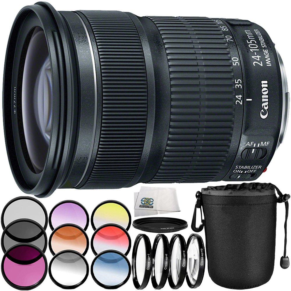 Canon EF 24 – 105 mm f / 3.5 – 5.6 is STMレンズ7pc Accessory Bundle – Includes 3ピースフィルターキット(UV + CPL + FLD) + 4pcマクロフィルタセット(+ 1 ,  2 ,  4 ,  10 ) + More (ホワイトボックス)   B072BBH7CX