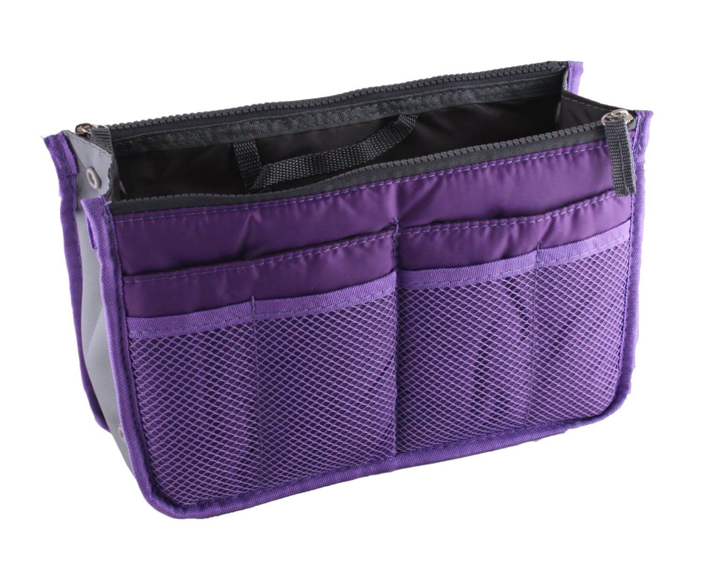 NOVAGO Organiseur Pochette sac de rangement intérieur pour sac à main ou sac de voyage (divers coloris disponibles) (Bleu)