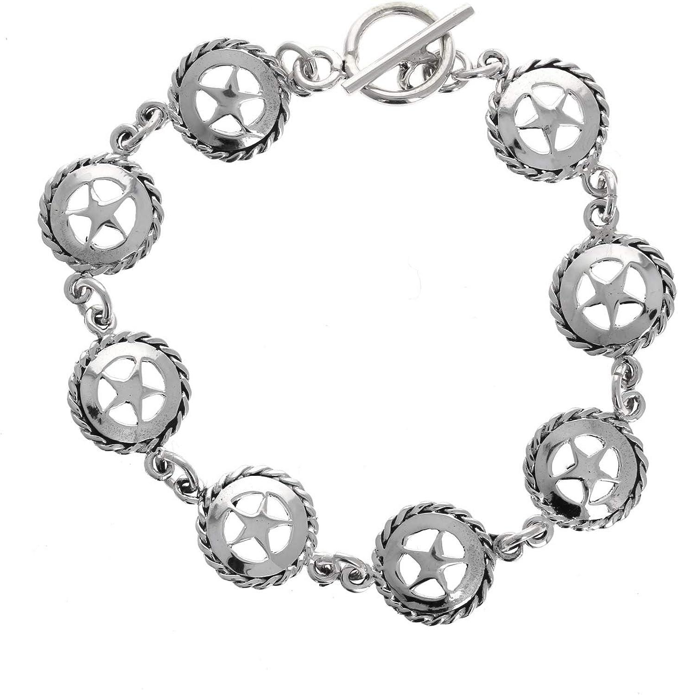 Sheriffs Star Mayas Gems Sterling Silver 925 Sterling Silver Pendant