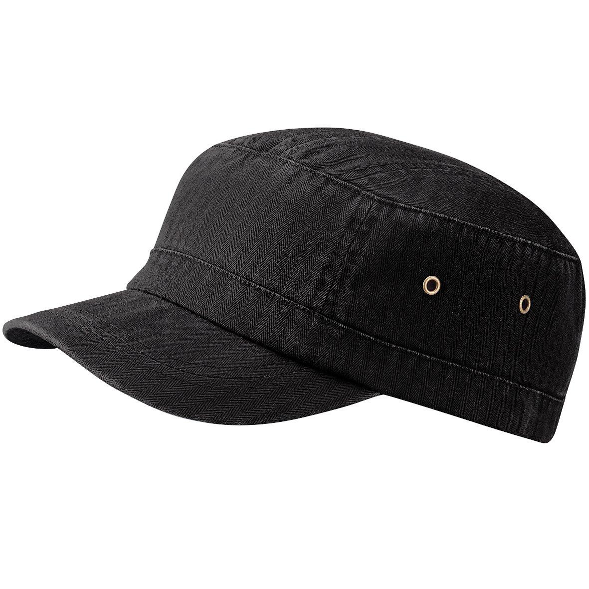 Amazon.com: Beechfield Unisex Urban Army Cap / Headwear (One Size) (Vintage Black): Clothing