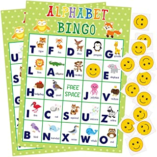 Alphabet Bingo Game 24 Players for Kids Party Supplies