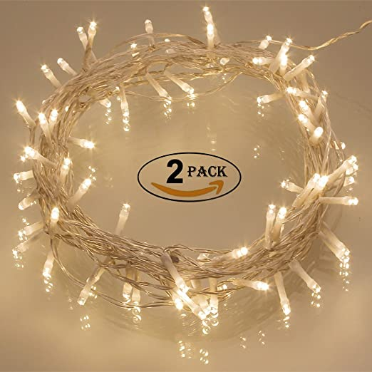 2 pack 40 led outdoor timer battery fairy lights on 5m clear 2 pack 40 led outdoor timer battery fairy lights on 5m clear mozeypictures Choice Image