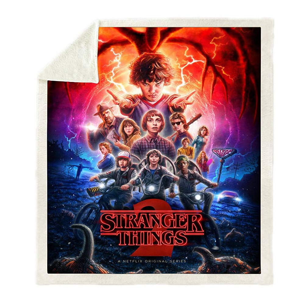 OWHO Blanket 3D Stranger Things Super Soft and Cozy Fleece Blanket Plush Quilt Perfect for Couch Sofa or Bed (2,130×150CM) by OWHO