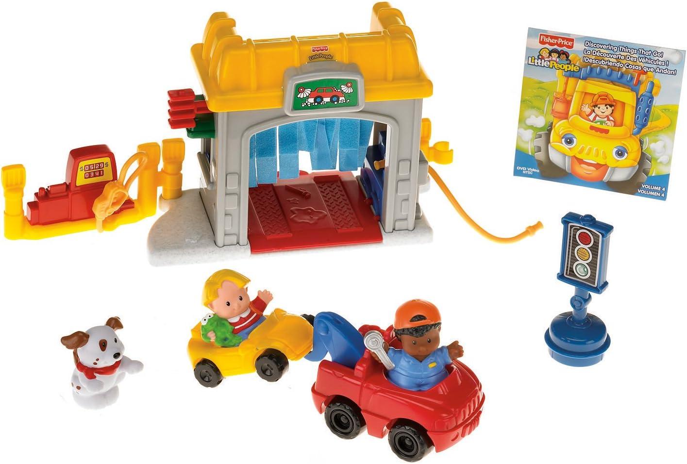 Amazon Com Fisher Price Little People Mini Garage Toys Games