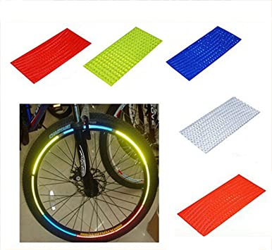 TOOGOO Pegatina De Bicicleta MTB Fluorescente Reflector De ...